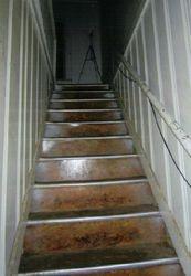Stairway to upstairs apartment where