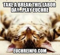 Take a break this Labor day...play Euchre.