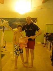 Andrew receiving his Rookie Lifeguard Awards