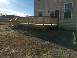 Pressure Treated Deck with Wood Railing