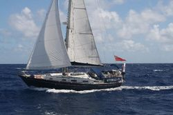 Sailing in 20+ knots north of St Lucia - 1 reef in the main and genoa