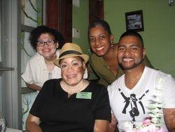 Shazaad (NY) with the ladies at Dinner