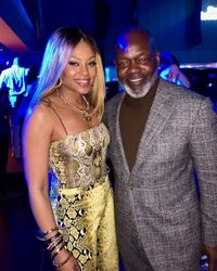 Demetria McKinney and Emmitt Smith attend the Sports Illustrated presents Saturday Night Lights event powered by Matthew Gavin Enterprises and Talent Resources Sports