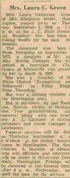 Grove, Laura C. Lininger 1958