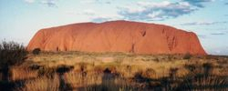Sunset at Ayres Rock after the 1994 AGM at Alice Springs - April 1994