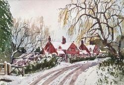 Misbrooks Cottages in Snow
