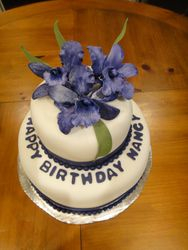 purple iris cake