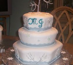 White Cristmas Wedding Cake