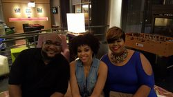 Jon'Adrian and Brittany attend the R&B LIVE Presents Demetria McKinney - Movie Grill