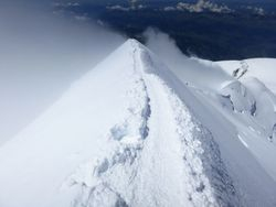 Bosses Ridge on Mont Blanc