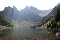 Lake Agnes from teahouse