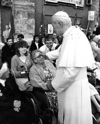 Kathy with Pope John Paul II