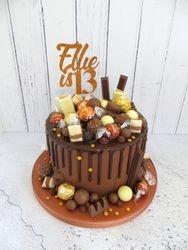 Ellie's 13th Birthday Drip Cake