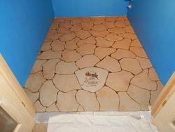 Wine Cellar Faux Stone floor cont'd...