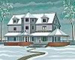 R House in winter by Eric