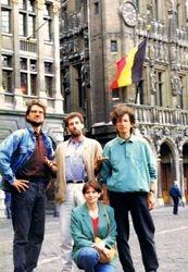 With Dany, Eugen & Silvie, Brusselles, Belgium, 1993