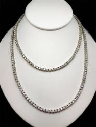 34 inch diamond tennis necklace