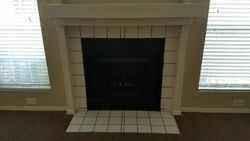 Tile Fireplace Surround Before