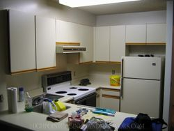 BEFORE - Pearwood Flat Slab Kitchen