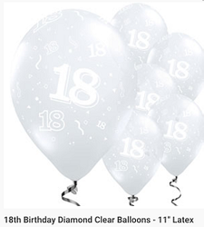 18th clear latex 11inch