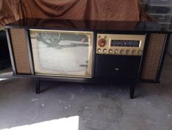 Black Ebony 1960's Curtis Mathes 3 in 1 entertainment console
