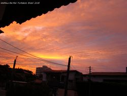 The colors of the sunset captured by my son Matheus