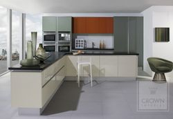 CROWN FURORE SUPERGLOSS HANDLE-LESS KITCHEN - COLOURS