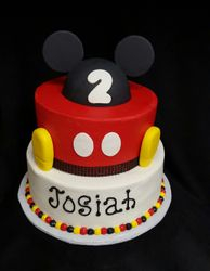 Mickey Mouse cake with ears and feet
