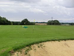 View of the range from behind the bunker