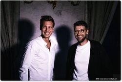 Tomas Berdych and Lukas Hejlik, Czech actor and presenter