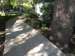 Walkway from H-building to Main House