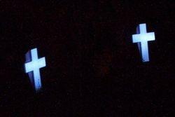Solar Crosses at night