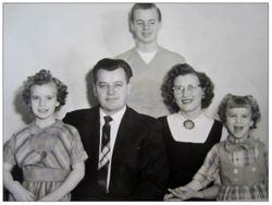 Evelyn Mooney with her family circa 1950's.