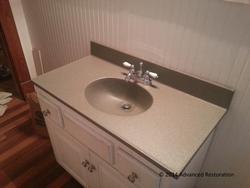 Virginia Job~Cultured Marble Bathroom Vanity AFTER