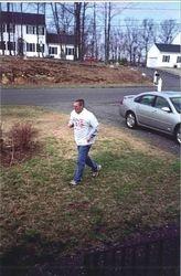 Kevin running around the yard