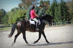 Meg Struble riding Neko