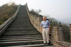 Randy on Great Wall near Beijing