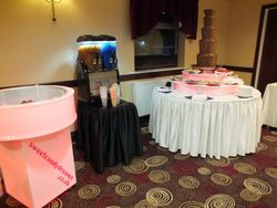 Candy floss, Slush and 5 tier chocolate fountain hire fitzwilliams arms rotherham