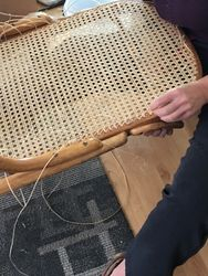 Hand Caning Rocking Chair