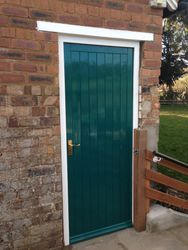 New store door and frame