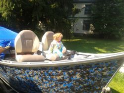 Bettys 1st boat ride with new seats & paint job