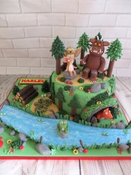 Forest themed birthday cake