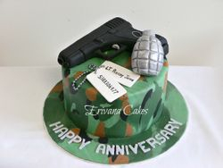 Army Themed Anniversary cake