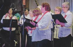 Choir singing in the Cattle Shed