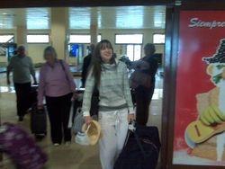 Becky arriving at La Palma airport!