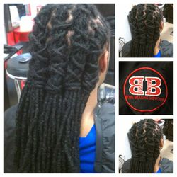 Natural Dreads Styled after Washed