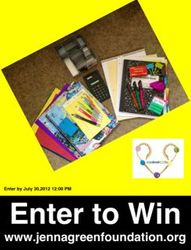 JGF July Monthly School Supplies Contest