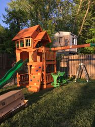 Backyard Discovery Liberty II swing set assembly in waldorf Maryland