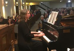 Christine Admiral, our pianist