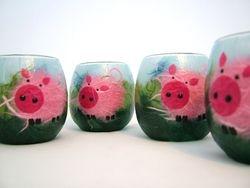 Small Piggies Tealight Holders